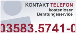 Kostenlose telefonische Beratung unter 03583.5741-0